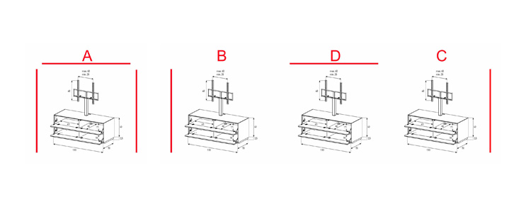 EX11-FF - Lowboard mit Klapptür / Klapptür