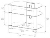 Sonorous TV-Möbel, TV-Racks, TV 28 zoll/inch - Sonorous - NEO 370-C-BLK