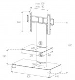 Sonorous TV-Möbel, TV-Racks, TV 32 zoll/inch -  Sonorous - NEO 81-C-SLV
