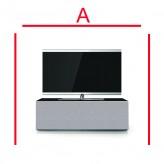 Lowboard Sonorous Elements EX10-TT-GRP-T-GRY-2-A - TV-Möbel mit Stoffbezug Grau und 2 stoffbezogenen Klapp-Türen