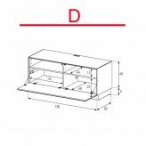 Lowboard Sonorous Elements EX10-F-D - TV-Möbel mit Klapp-Tür / kombinierbar