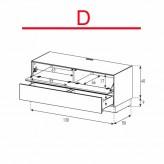 Lowboard Sonorous Elements EX10-FD-D - TV-Möbel mit Klapp-Tür und Schublade / kombinierbar