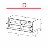 Lowboard Sonorous Elements EX10-FF-D - TV-Möbel mit 2 Klapp-Türen / kombinierbar