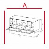 Lowboard Sonorous Elements EX10-TC-A - TV-Möbel mit stoffbezogener Klapp-Tür / kombinierbar