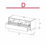 Lowboard Sonorous Elements EX10-TD-D - TV-Möbel mit stoffbezogener Klapp-Tür und Schublade / kombinierbar