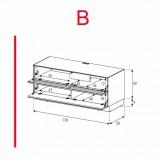 Lowboard Sonorous Elements EX10-TF-B - TV-Möbel mit stoffbezogener Klapp-Tür und Klapp-Tür / kombinierbar