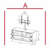 Lowboard Sonorous Elements EX11-FF-A - TV-Möbel mit 2 Klapp-Türen mit TV-Halterung / kombinierbar