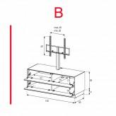 Lowboard Sonorous Elements EX11-FF-B - TV-Möbel mit 2 Klapp-Türen mit TV-Halterung / kombinierbar