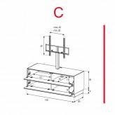 Lowboard Sonorous Elements EX11-FF-C - TV-Möbel mit 2 Klapp-Türen mit TV-Halterung / kombinierbar