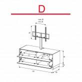 Lowboard Sonorous Elements EX11-FF-D - TV-Möbel mit 2 Klapp-Türen mit TV-Halterung / kombinierbar