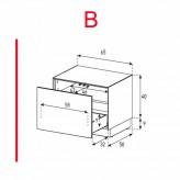 Lowboard Sonorous Elements EX20-D-B - TV-Möbel mit Schublade / kombinierbar