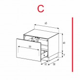 Lowboard Sonorous Elements EX20-D-C - TV-Möbel mit Schublade / kombinierbar
