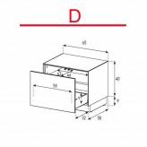 Lowboard Sonorous Elements EX20-D-D - TV-Möbel mit Schublade / kombinierbar
