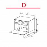 Lowboard Sonorous Elements EX20-F-D - TV-Möbel mit Klapp-Tür / kombinierbar