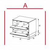 Lowboard Sonorous Elements EX20-FF-A - TV-Möbel mit 2 Klapp-Türen / kombinierbar