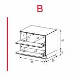 Lowboard Sonorous Elements EX20-FF-B - TV-Möbel mit 2 Klapp-Türen / kombinierbar