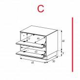 Lowboard Sonorous Elements EX20-FF-C - TV-Möbel mit 2 Klapp-Türen / kombinierbar