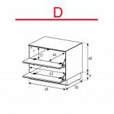 Lowboard Sonorous Elements EX20-FF-D - TV-Möbel mit 2 Klapp-Türen / kombinierbar