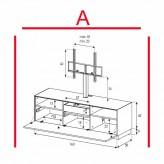Lowboard Sonorous Elements EX31-F-A - TV-Möbel mit Klapp-Tür mit TV-Halterung / kombinierbar