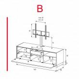 Lowboard Sonorous Elements EX31-F-B - TV-Möbel mit Klapp-Tür mit TV-Halterung / kombinierbar