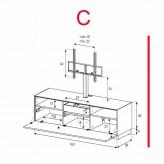 Lowboard Sonorous Elements EX31-F-C - TV-Möbel mit Klapp-Tür mit TV-Halterung / kombinierbar