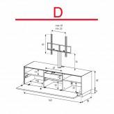 Lowboard Sonorous Elements EX31-F-D - TV-Möbel mit Klapp-Tür mit TV-Halterung / kombinierbar