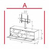 Lowboard Sonorous Elements EX31-TS-A - TV-Möbel mit stoffbezogener Klapp-Tür mit TV-Halterung / kombinierbar