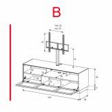 Lowboard Sonorous Elements EX31-TS-B - TV-Möbel mit stoffbezogener Klapp-Tür mit TV-Halterung / kombinierbar