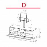 Lowboard Sonorous Elements EX31-TS-D - TV-Möbel mit stoffbezogener Klapp-Tür mit TV-Halterung / kombinierbar